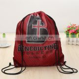 free samples TCCC AUDITY FACTORY China custom cheap promotional waterproof 210d nylon drawstring bag