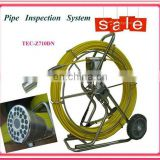 "60m-150m cable Pipe Wall Sewer Inspection Camera System, 7"" video endoscope camera system TEC-Z710DN"