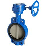 worm gear operated wafer butterfly valve  дроссельный клапан