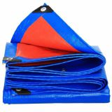 Easy-folded blue/orange tarpaulin regular thickness any size available double sides laminated fabrics two-sides waterproof covers economical