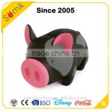 Festival gifts wholesale cheap large plastic black cute piggy bank with sound