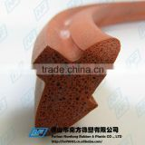 red closed cell foam heat resistant rubber strip