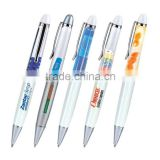 hot selling cool liquid pda pen with 7 color , Aqua liquid pen with 3D logo like lung,medcine,