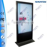 55inch multi touch screen information kiosk totem