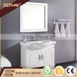 Hot classic,solid wood bathroom cabinet Style and Mirrored Cabinets Type bathroom cabinet vanity