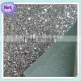 Shiny Silver Glitter Decoration Wallpaper and Glitter Fabric Wall Paper with other colors                                                                         Quality Choice