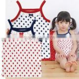 wholesale japanese cute underwear products hot selling item inner kids wear clothing camisole high quality polka dot pattern