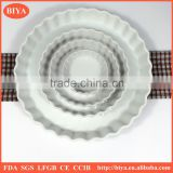 different big size ceramic stripe round shape fruit pie plate, porcelain cake baking plate,Cheese pan or flower pot plate