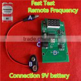 Remote control Car key frequency test device.Fast test remote frequency PCB Borad with 9V battery.frequency wireless test