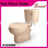 Commode sanitaryware siphonic dual flush Toilet Bone Color