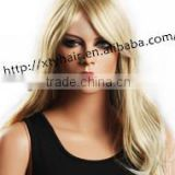 alibaba express wholesale synthetic hair wigs beautiful blond body wave hair fashion lady's hair long wig