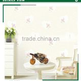 stock foaming non woven wallpaper,Rose flower for home decoration , smoke-proof wall paper store