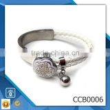 yiwu CC Jewelry CCB0005 hot new products for 2015 usa wholesale rhinestone leather bracelet