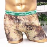 Custom digital print boxer shorts with logo in waistband mens underwear                                                                         Quality Choice