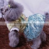 new design dog clothes spring summer Sequins yarn rabbit shaped dog skirts with hoody velvet material dog apparels
