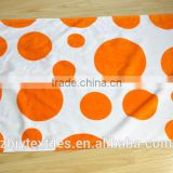 100% Cotton Custom Promotional Velour Reactive Printed Beach Towel - printing in orange