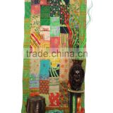 Vintage Kantha Patchwork Curtain Sari Kantha Curtain Patchwork Curtain