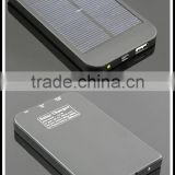 High Quality Mobile Accessories Portable Black Solar Battery Bank 2600mAh Battery For iPhone/Samsung/Digital Camera/ PC/MP3