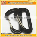 Yukai YK-1034 plastic carabiner D shape snap hook for bag accessory