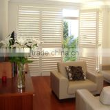 Wholesale louvre frames adjustable indoor basswood louver high quality finished plantation shutters wooden