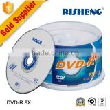 RISENG 8x 4.7GB 120MINs dvd cd blank/brand printing blank dvd cds/50pcs spindle dvd cd without content