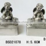 Customizing antique silver plating baby jewelry box first tooth first curl