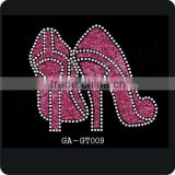 high heel shoes glitter iron on vinyl heat transfer motif