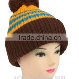 Free sample available wholesale new design fashion kids hats,baby winter hats with pom,warmer fancy baby hats