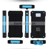 solar power banks Solar Power Bank LED Flashlight for Outdoor Travel Camping power bank station