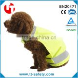 hot sale yellow orange dog and puppy reflective vest with print logo customed design pet vest