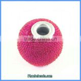 Wholesale Round Resin Indonesia Style Fuchsia Jewelry Beads PCB-M100557
