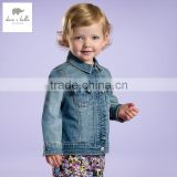 DB2719 dave bella spring cotton baby tops baby shirts baby denim coat outwear girls clothing