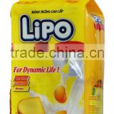 LIPO Cream 135g/bag Egg Cookie - DELICIOUS BISCUITS