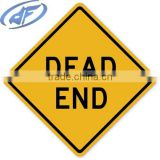 "Highway Traffic Supply Stop Sign Engineer Grade reflective ""dead end"" traffic sign board"