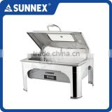SUNNEX High Quality Stylish Full Size Grey Water Pan Stainess Steel Cover & Food Pan 13.5Ltr. CE Approved Electric Chafing Dish
