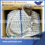 3 strand nylon anchor boat line with metal hook