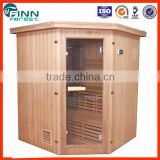 1.95*1.95*2.05m infrared personal steam sauna portable cheaper sauna room corner sauna house