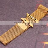 Original high quality 42mm For Apple Watch Band 38mm Milanese Loop Woven Stainless Steel Strap With Metal Adapter