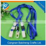 cheap polyester lanyard with ID badge holder no minimum order for business meeting made by factory directly