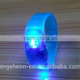 LED flashing wristband LED lighting PVC bracelet on/off light up wristband party supply gift wristband