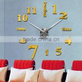 acrylic large beautiful home designs EVA wall clock