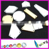 Inquiry about Top quality sew-on acrylic stone acryl strass mirror shaped flat back rhinestones with holes