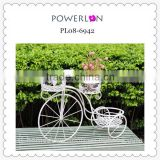 Best Selling White Bicycle Iron Flower Pot Stand