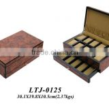 Velvet inlay wooden watch box for sale