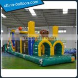 Inflatable assault course/ football theme printing inflatable bouncer