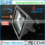 Taiwan MW driver 85-277VAC led parking lot flood light 50W outdoor lighting 5 years warranty