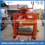 hollow block manufacture/manul hollow brick making machine QTJ4-40 manual concrete block