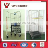 vertical two front door collapsible logistics trolley, hand push moving cart made in china