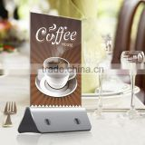 Custom printing logo table advertisement menu power bank 10000 mah for restaurant/coffee shop/bar