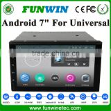 Funwin 2016 Hot Sale 2Din 7 Inch Universal Car Dvd Player With Android Can-Bus 3G Wifi Mirror Link